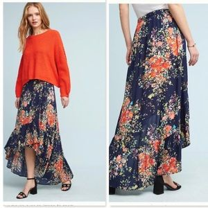 Anthropologie On the Road Rae Maxi Skirt